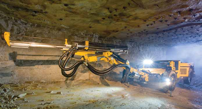 Low Profile Face Drilling Rig Is Built For Heavy Tramming